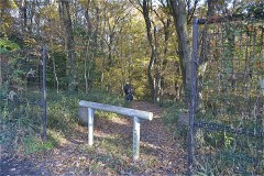 「市立野山北公園」方面へ尾根伝いにおりる