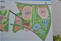 中台運動公園 案内図
