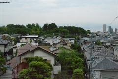 正面の森は須和田公園