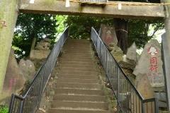 115-十条冨士塚に上る石段