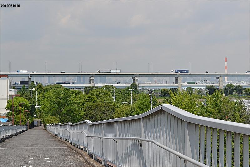 江戸川区臨海球技場エスカレータをのぼったところの眺め