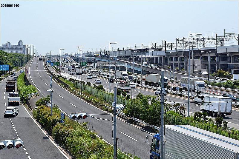 臨海橋(湾岸道路横断橋)からの眺め