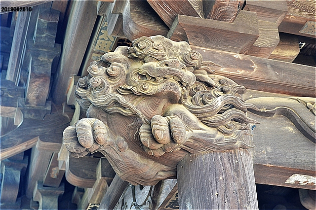 多聞寺山門の彫刻