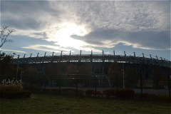 武蔵野の森公園から見る味の素スタジアム