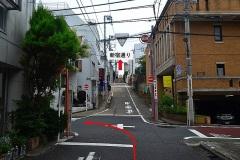 511-東福院坂標識を左折して日宗寺へ