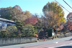 狭山神社入口を通過