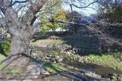 残堀川に沿って狭山池公園へ