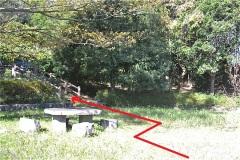 菅北浦緑地公園。階段を上る。