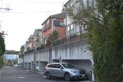 菅さくら公園出口からの道