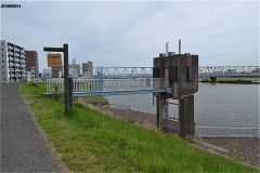 真間川の取水口