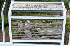 新左近川親水公園 葛西かもめ橋の装飾