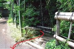 竹林公園・湧水点から、いったん一般道へ