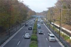 野川公園:東八道路をまたぐ一之橋